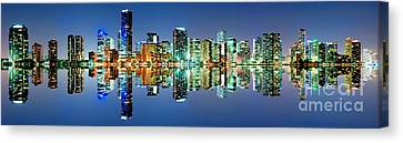 Miami Skyline Panorama Canvas Print