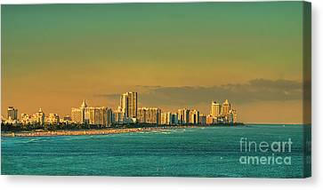 Miami Sunset Canvas Print by Olga Hamilton