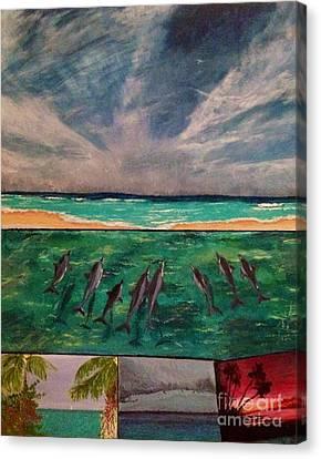Delfin Canvas Print by Vanessa Palomino