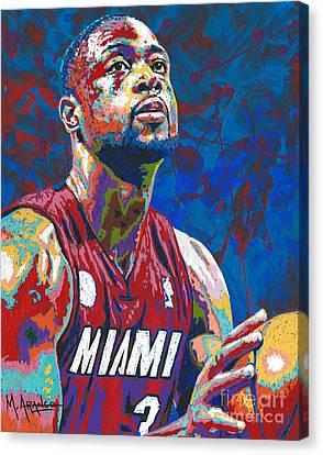 Miami Wade Canvas Print by Maria Arango