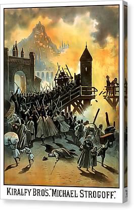 Battle Canvas Print - Micael Strogoff by Terry Reynoldson