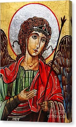 Michael Archangel Canvas Print by Ryszard Sleczka