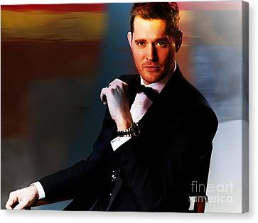 Michael Buble Canvas Print by Marvin Blaine