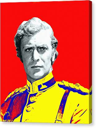 Michael Caine In Zulu Canvas Print by Art Cinema Gallery