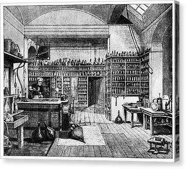 Michael Faraday In His Lab Canvas Print