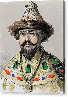 Michael I (mikhail Fyodorovich Romanov Canvas Print by Prisma Archivo