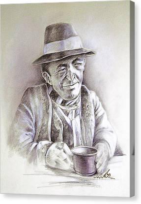 Michael J Anderson Canvas Print by Miki De Goodaboom