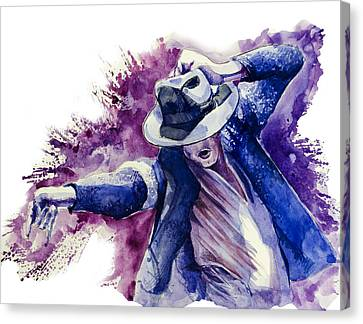 Michael Jackson 10 Canvas Print by Bekim Art