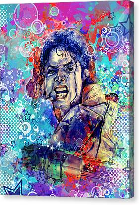 Michael Jackson 11 Canvas Print by Bekim Art
