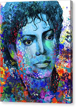 Michael Jackson 14 Canvas Print by Bekim Art