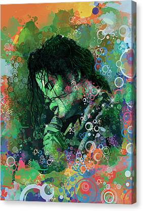Michael Jackson 15 Canvas Print by Bekim Art