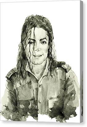 Michael Jackson 4 Canvas Print by Bekim Art