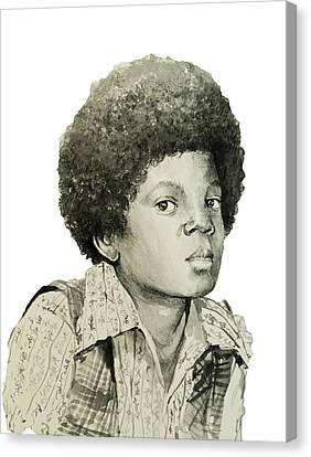 Michael Jackson 5 Canvas Print by Bekim Art