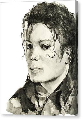 Michael Jackson 6 Canvas Print by Bekim Art