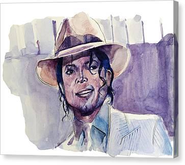 Michael Jackson 9 Canvas Print by Bekim Art