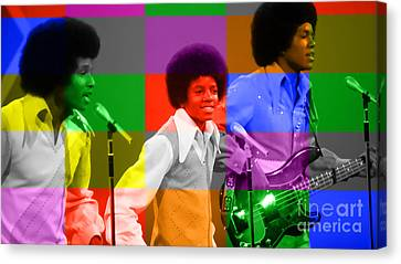 Michael Jackson And The Jackson 5 Canvas Print