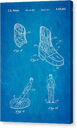 Michael Jackson Anti Gravity Boot 2 Patent Art 1993 Blueprint Canvas Print by Ian Monk