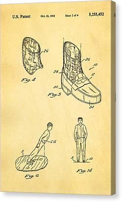Michael Jackson Anti Gravity Boot 2 Patent Art 1993 Canvas Print by Ian Monk