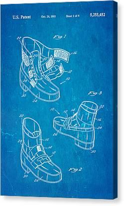 Michael Jackson Anti Gravity Boot Patent Art 1993 Blueprint Canvas Print by Ian Monk