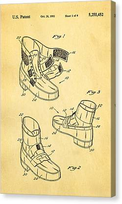 Michael Jackson Anti Gravity Boot Patent Art 1993 Canvas Print by Ian Monk