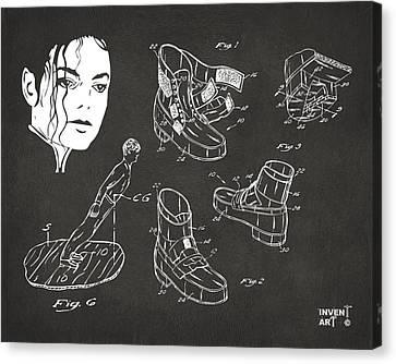 Michael Jackson Anti-gravity Shoe Patent Artwork Vintage Canvas Print