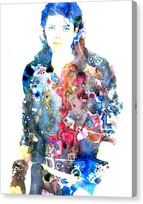 Michael Jackson Bad Canvas Print by Brian Reaves