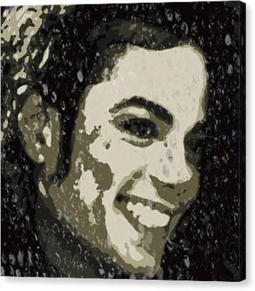 Michael Jackson Concert 3 Canvas Print by Yury Malkov