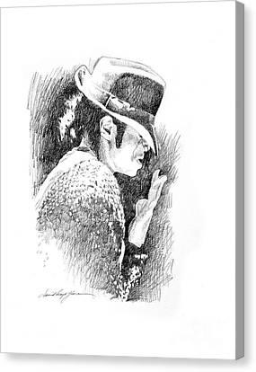 Michael Jackson Canvas Print - Michael Jackson Hat by David Lloyd Glover