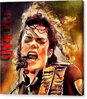 Michael Jackson I'm Bad Canvas Print