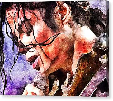 Michael Jackson Live And Alive 1 Canvas Print