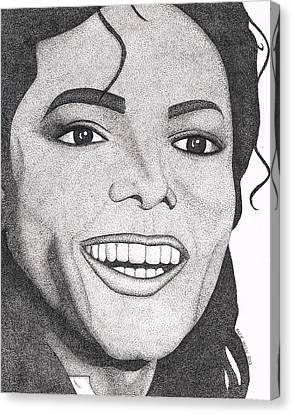 Jackson 5 Canvas Print - Michael Jackson by Marie Wern