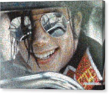 Michael Jackson - Mosaic Canvas Print by Paulette B Wright