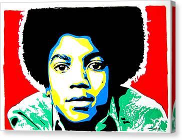 Michael Jackson Canvas Print by Nancy Mergybrower