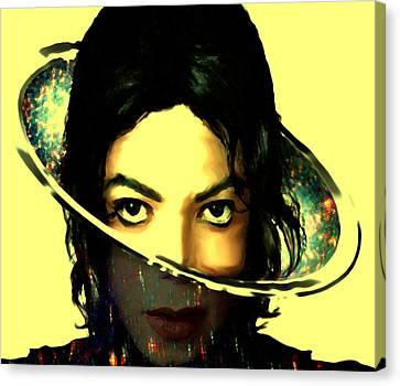 Michael Jackson Out Of This World Canvas Print by Brian Reaves