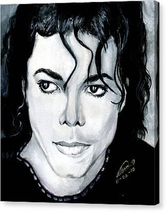 Michael Jackson Portrait Canvas Print