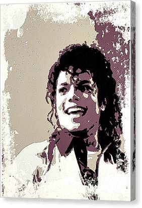 Michael Jackson Portrait Art Canvas Print by Florian Rodarte