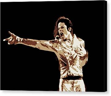 Michael Jackson Poster Art Canvas Print by Florian Rodarte