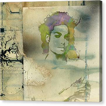 Michael Jackson Silhouette Canvas Print by Paulette B Wright
