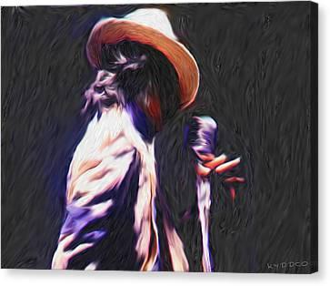 Michael Jackson Canvas Print by Tyler Watts KyddCo