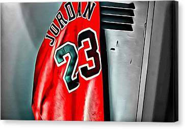 Michael Jordan 23 Shirt Canvas Print