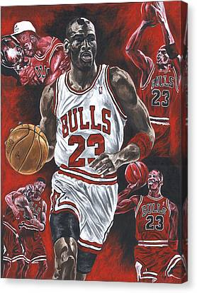 Michael Jordan Canvas Print by David Courson
