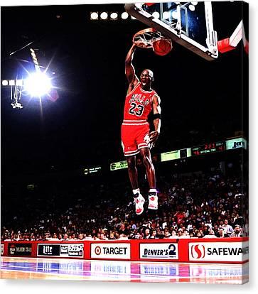 Michael Jordan Fast Break Canvas Print