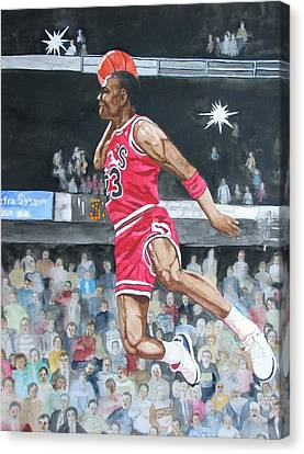 Michael Jordan Canvas Print by Freda Nichols