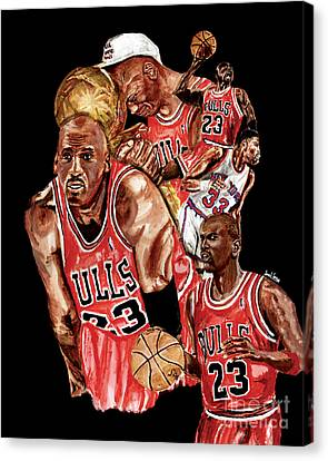 Michael Jordan Canvas Print by Israel Torres