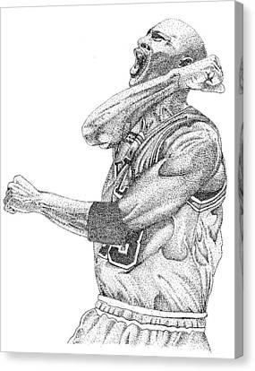 Michael Jordan Canvas Print by Joe Rozek