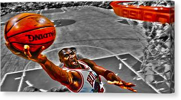 Michael Jordan Lift Off II Canvas Print by Brian Reaves