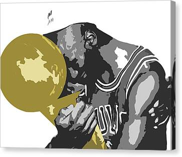 Michael Jordan Canvas Print by Mike Maher
