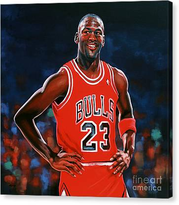 Slam Canvas Print - Michael Jordan by Paul Meijering