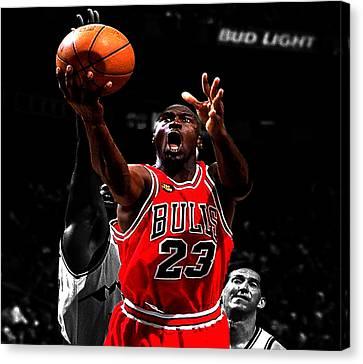 Michael Jordan Soft Touch Canvas Print
