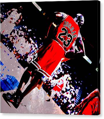 All Star Game Canvas Print - Michael Jordan Standing Tall by Brian Reaves